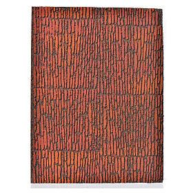 Accessoires maison en miniature: Planche en liège mur romain 36x23x1 cm