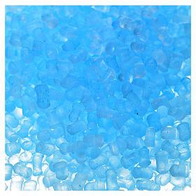 Nativity accessory,  light blue transparent grains, 100gr s2