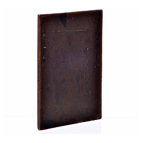 Puerta en yeso color madera oscura cm. 10x7 s2