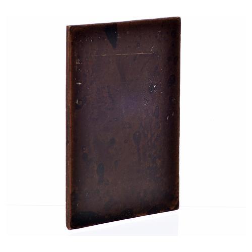 Mini porte en plâtre couleur bois foncé 10x7 2