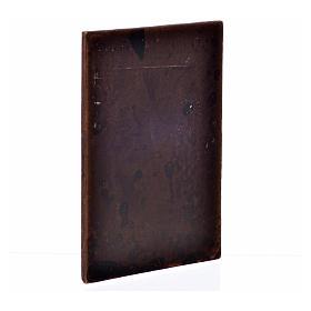 Porta in gesso color legno scuro 10x7 s2