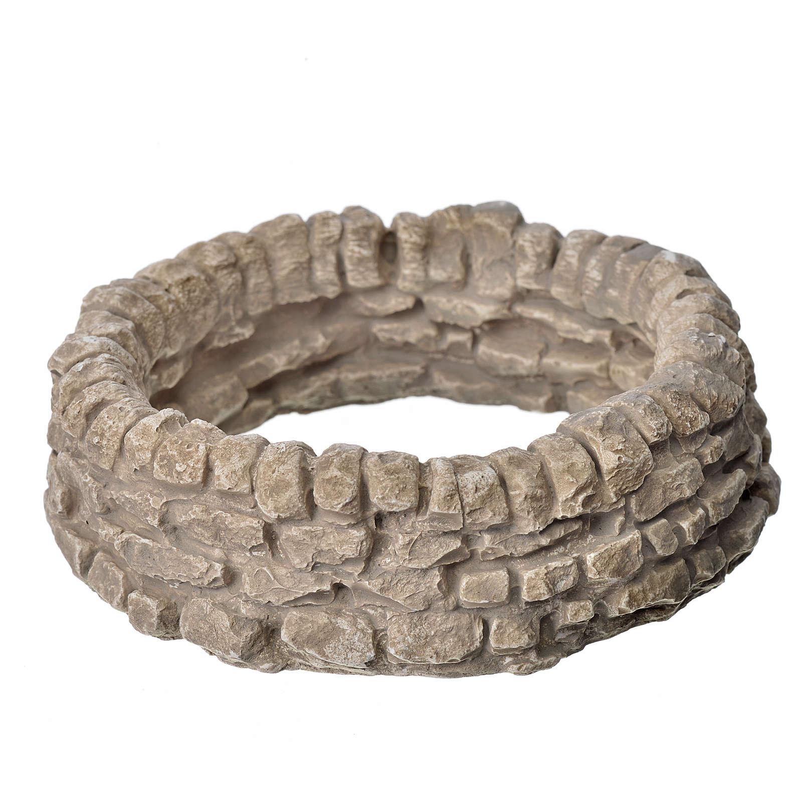 Muro ad anello in gesso per presepe 4