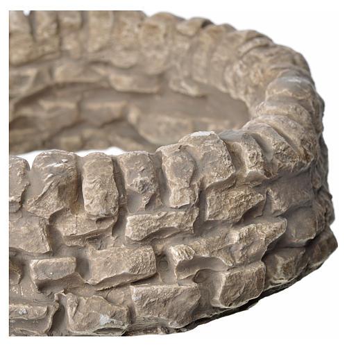 Muro ad anello in gesso per presepe 2