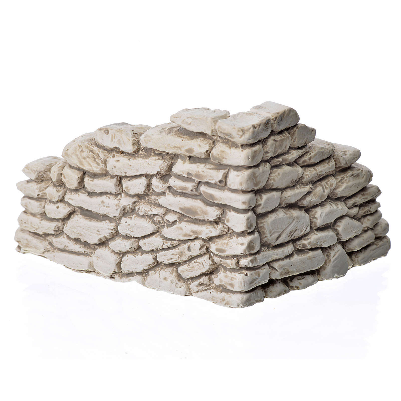 Muro angular en yeso para el belén 7x10x9 cm. 4