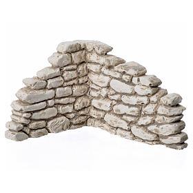 Mosty do szopki, strumyki, płoty: Mur narożny z gipsu do szopki 7x10x9