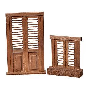 Mini stores volet pour crèche 7x6 et 10,5x7cm s1