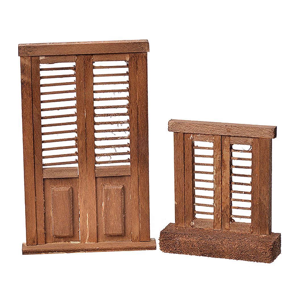Infissi presepe legno tipo veneziana 7x6 e 10,5x7 4