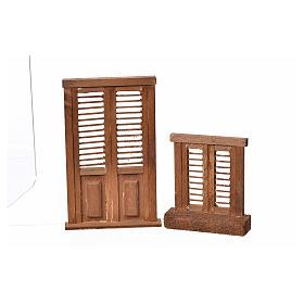 Infissi presepe legno tipo veneziana 7x6 e 10,5x7 s3