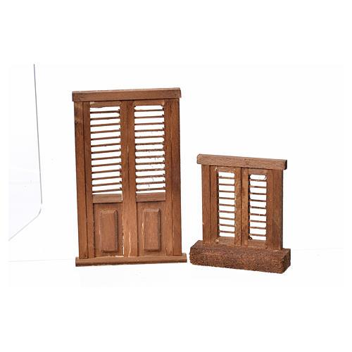Infissi presepe legno tipo veneziana 7x6 e 10,5x7 3