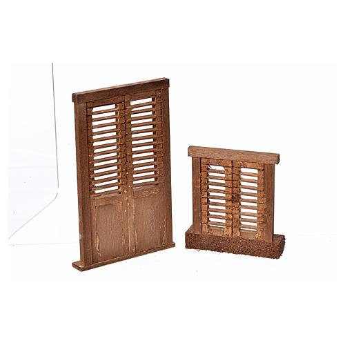 Infissi presepe legno tipo veneziana 7x6 e 10,5x7 2