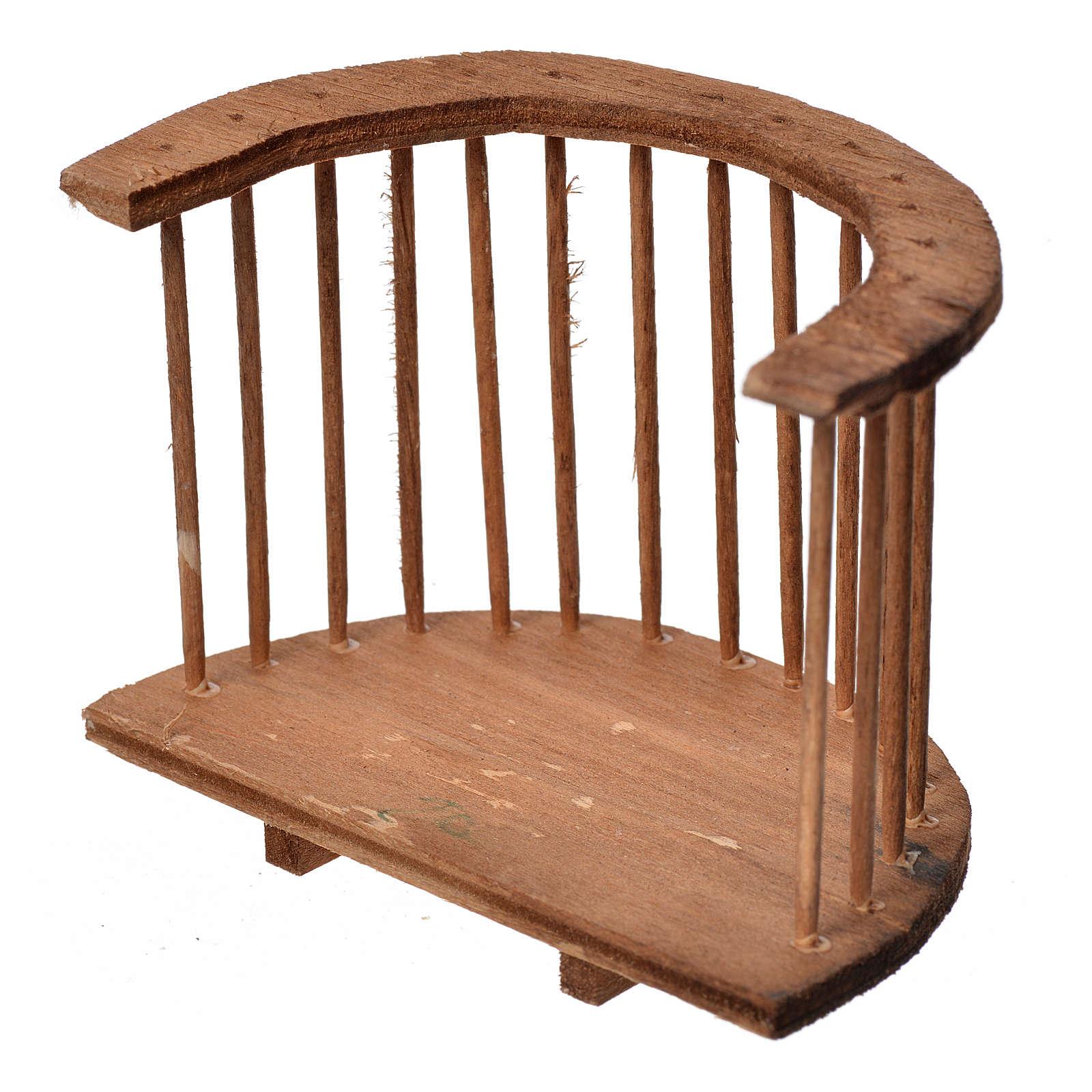 Balcone presepe tondo in legno 7x8,5x5 4