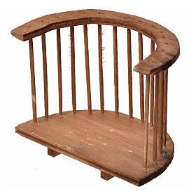 Balcone presepe tondo in legno 7x8,5x5 s2