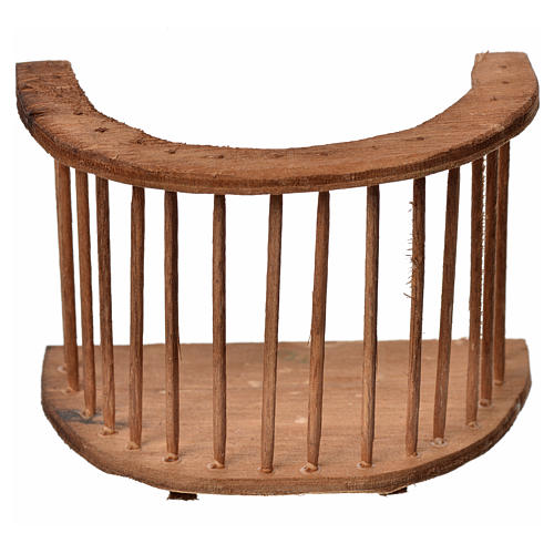 Balcone presepe tondo in legno 7x8,5x5 1