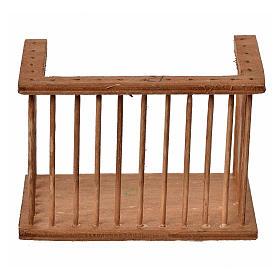 Nativity accessory, wooden square balcony, 6x8.5x5cm s1