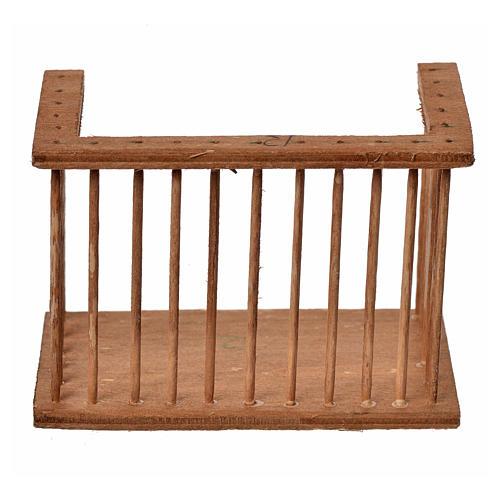 Nativity accessory, wooden square balcony, 6x8.5x5cm 1