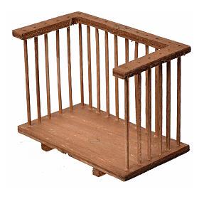 Balcone presepe quadrato in legno 6x8,5x5 s2