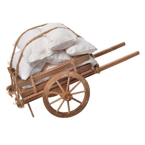 Carretto presepe napoletano legno con stoffe 1