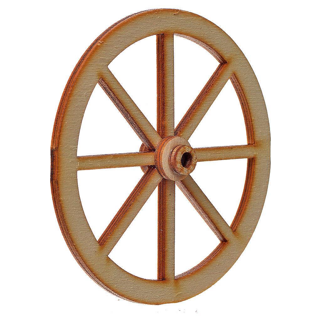 Rad für Krippe aus Holz 8cm 4