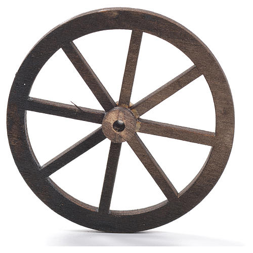 Rad für Krippe aus Holz 8cm 1