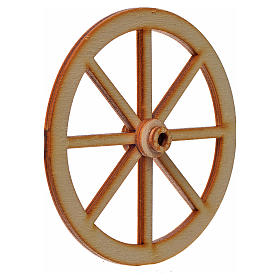 Nativity accessory, wooden wheel, diam. 8cm s2