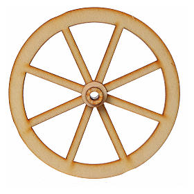 Roda presépio madeira 8 cm s3