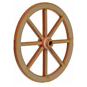 Roda presépio madeira 8 cm s4