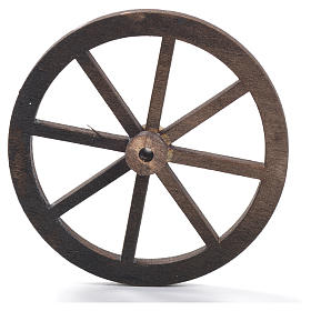 Roda presépio madeira 8 cm s5