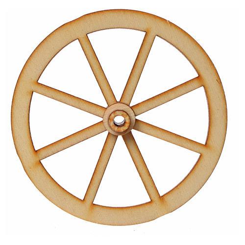 Roda presépio madeira 8 cm 3