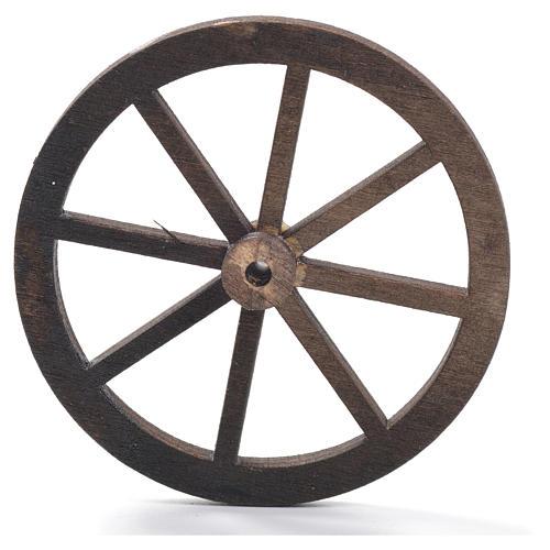 Roda presépio madeira 8 cm 5