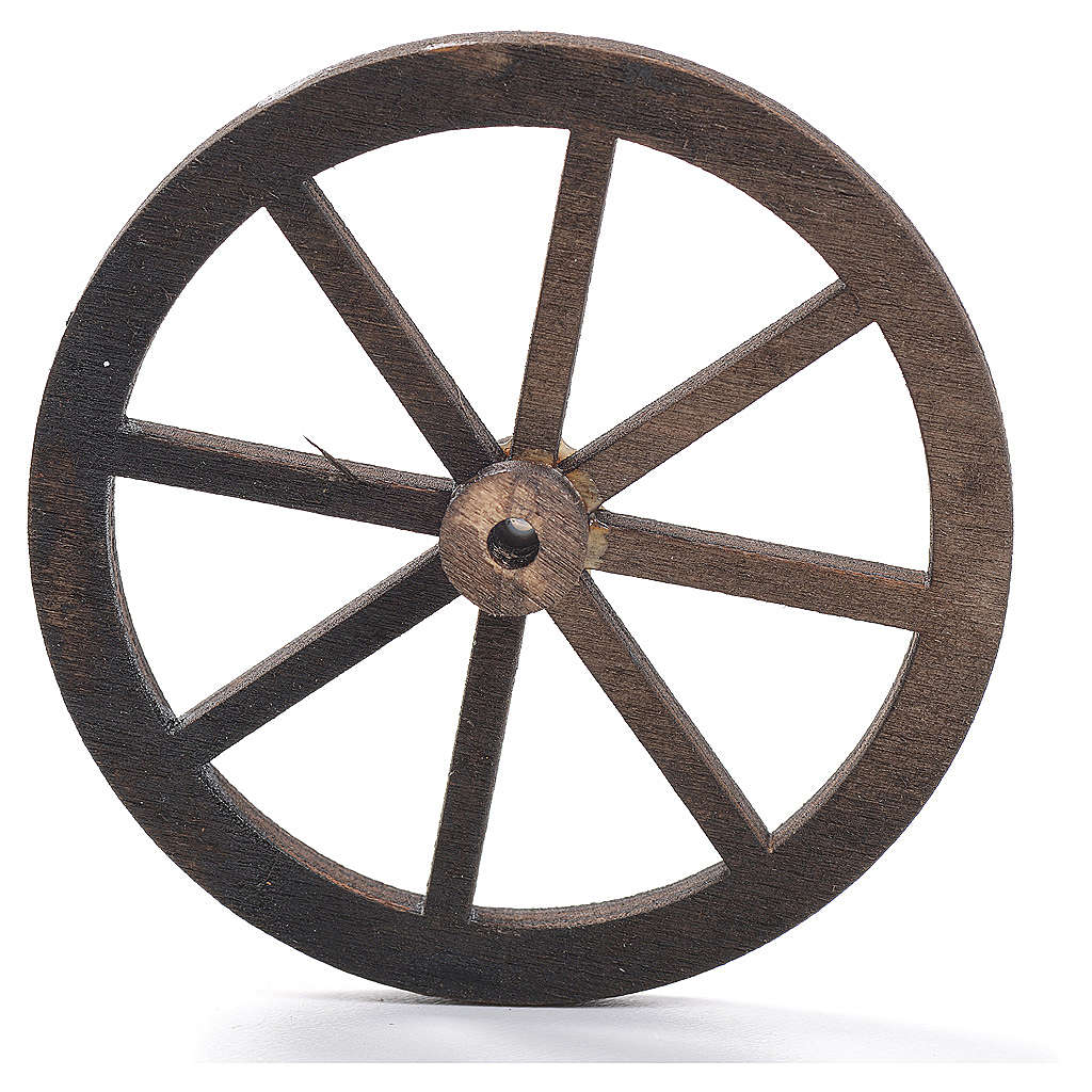 Nativity accessory, wooden wheel, diam. 8cm 4