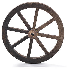 Nativity accessory, wooden wheel, diam. 8cm s1