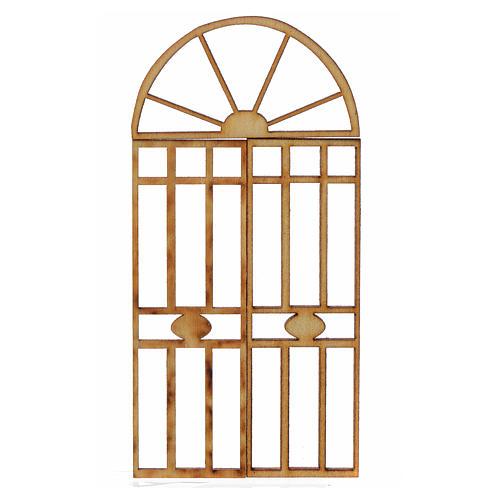 Portão presépio em madeira 3 peças 10,5x5 cm 1