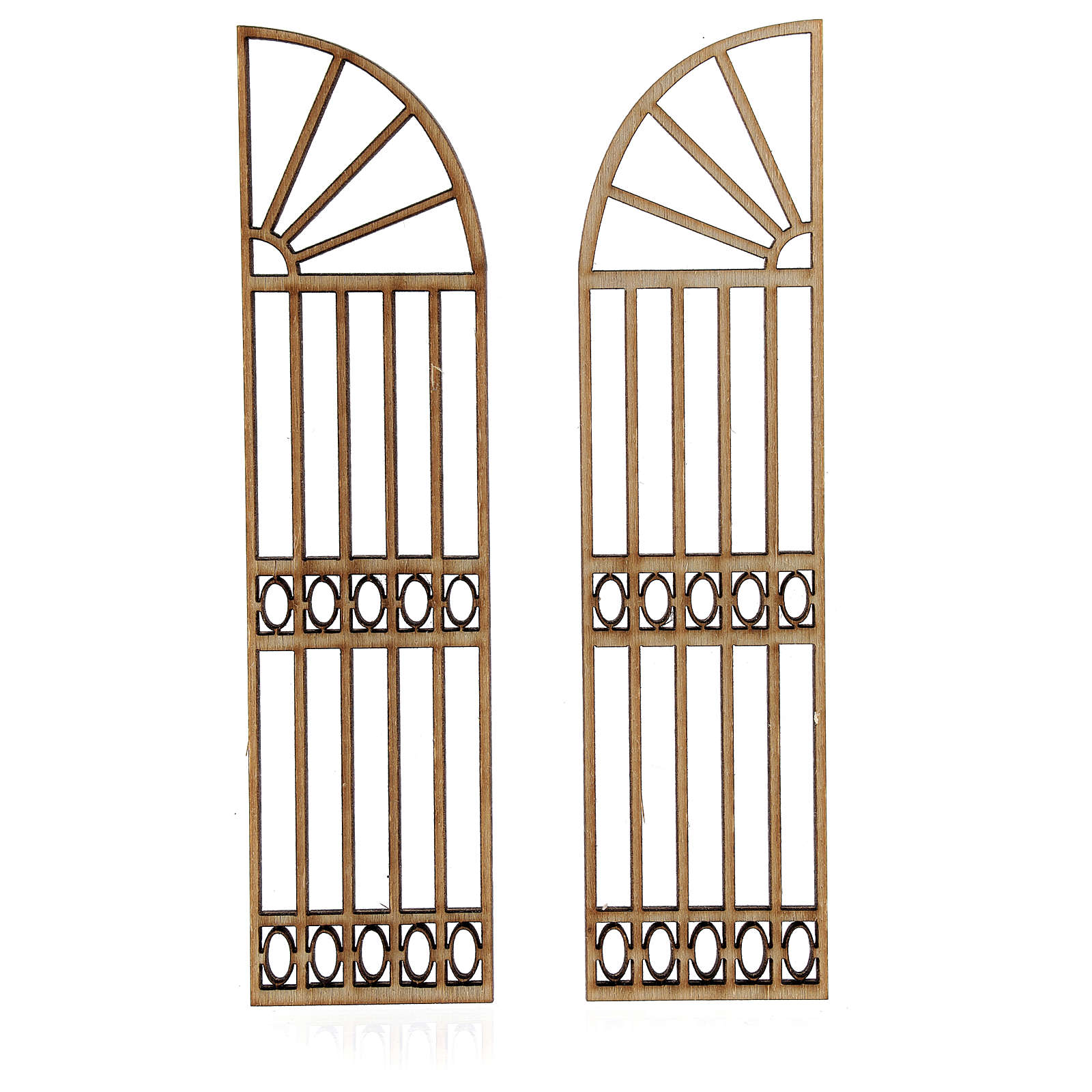 Nativity accessory, wooden gate, 2 pieces 15x7.5cm 4