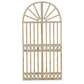 Nativity accessory, wooden gate, 2 pieces 15x7.5cm s1