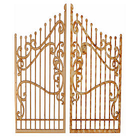 Cancello presepe legno 2 pz 15x7,5 s1