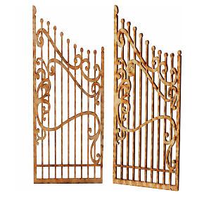 Cancello presepe legno 2 pz 15x7,5 s2