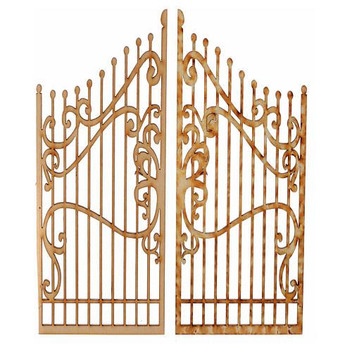 Cancello presepe legno 2 pz 15x7,5 1