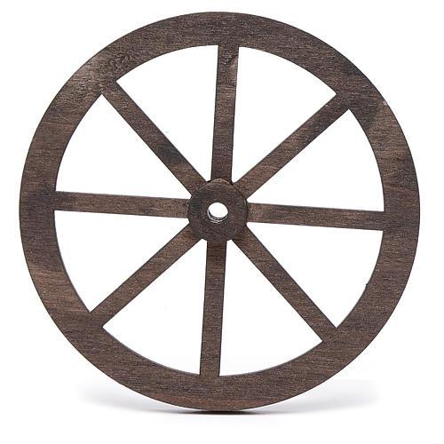 Rueda belén madera 10 cm. 2