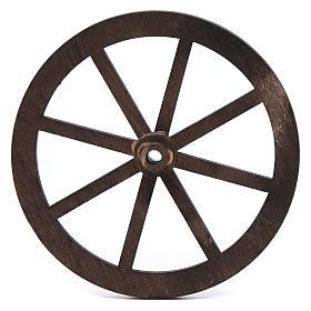 Mini roue bois pour crèche 10cm s1