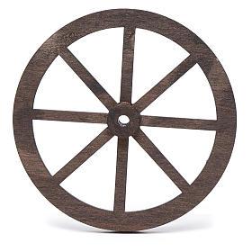 Mini roue bois pour crèche 10cm s2