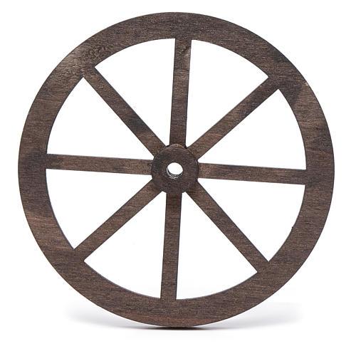 Mini roue bois pour crèche 10cm 2