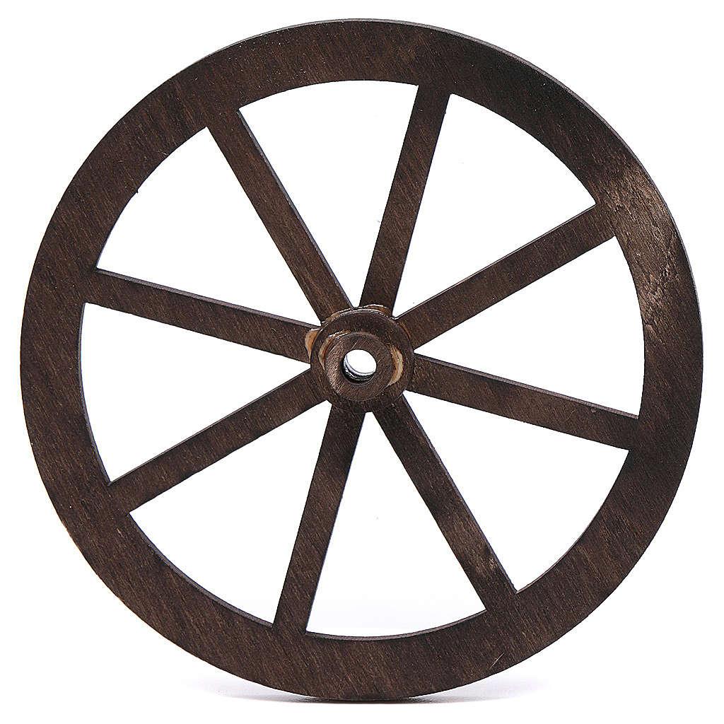 Ruota presepe legno cm 10 4