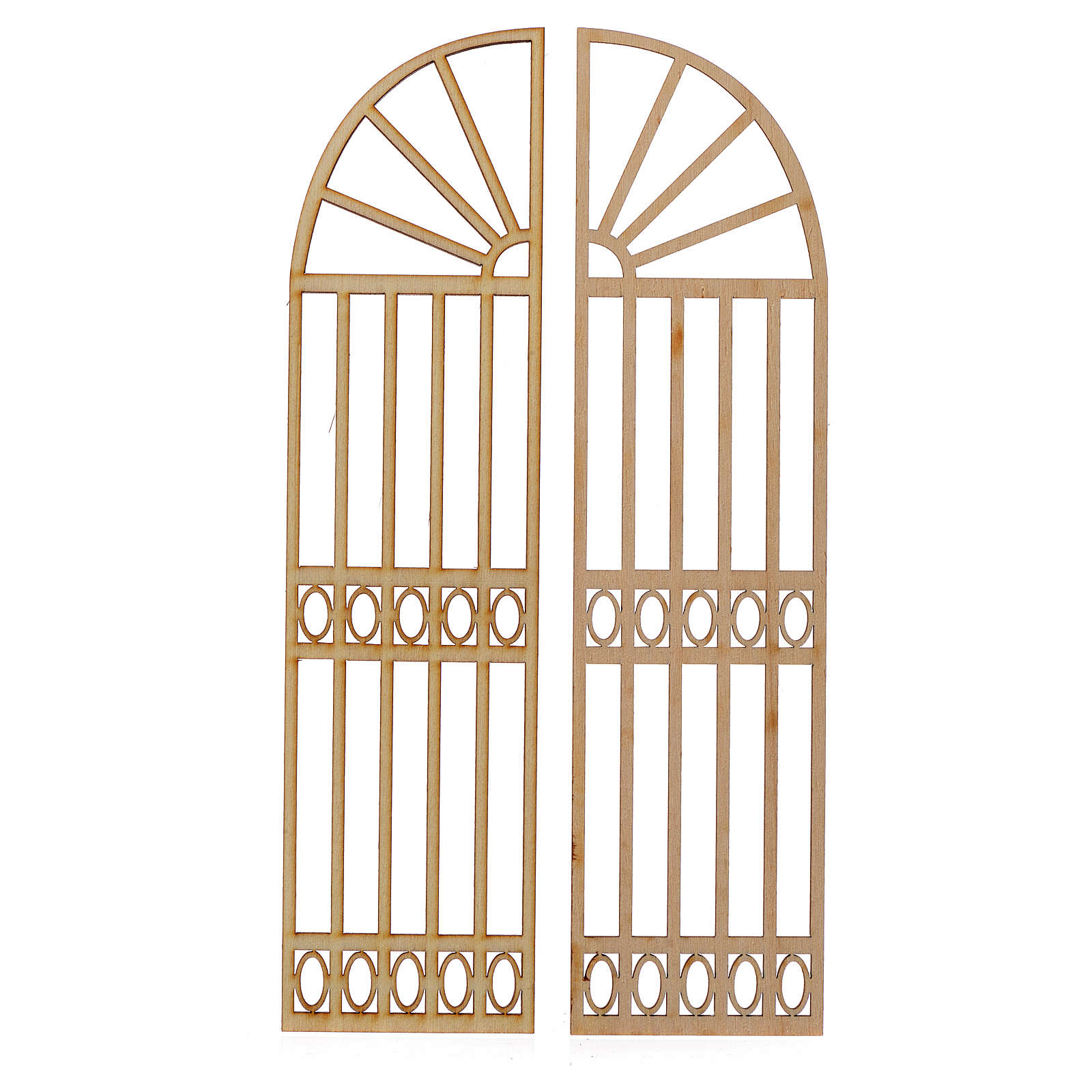 Cancello presepe legno 2 pz 22x11 4
