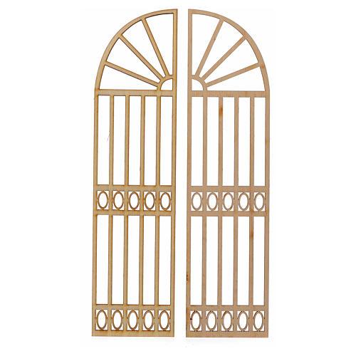 Cancello presepe legno 2 pz 22x11 1