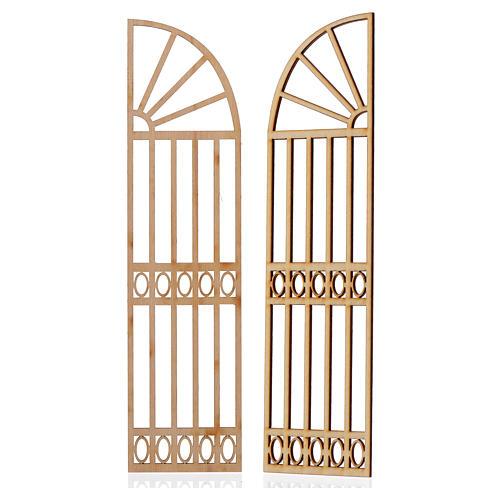 Cancello presepe legno 2 pz 22x11 2
