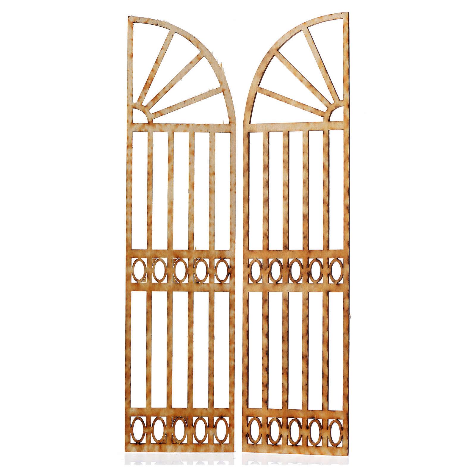 Cancello presepe 2 pz 26,5x13 4