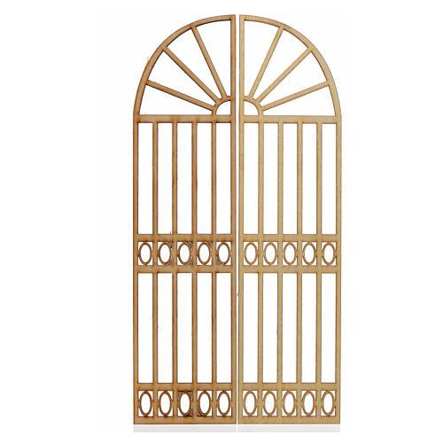 Cancello presepe 2 pz 26,5x13 1