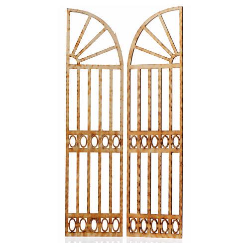 Cancello presepe 2 pz 26,5x13 2