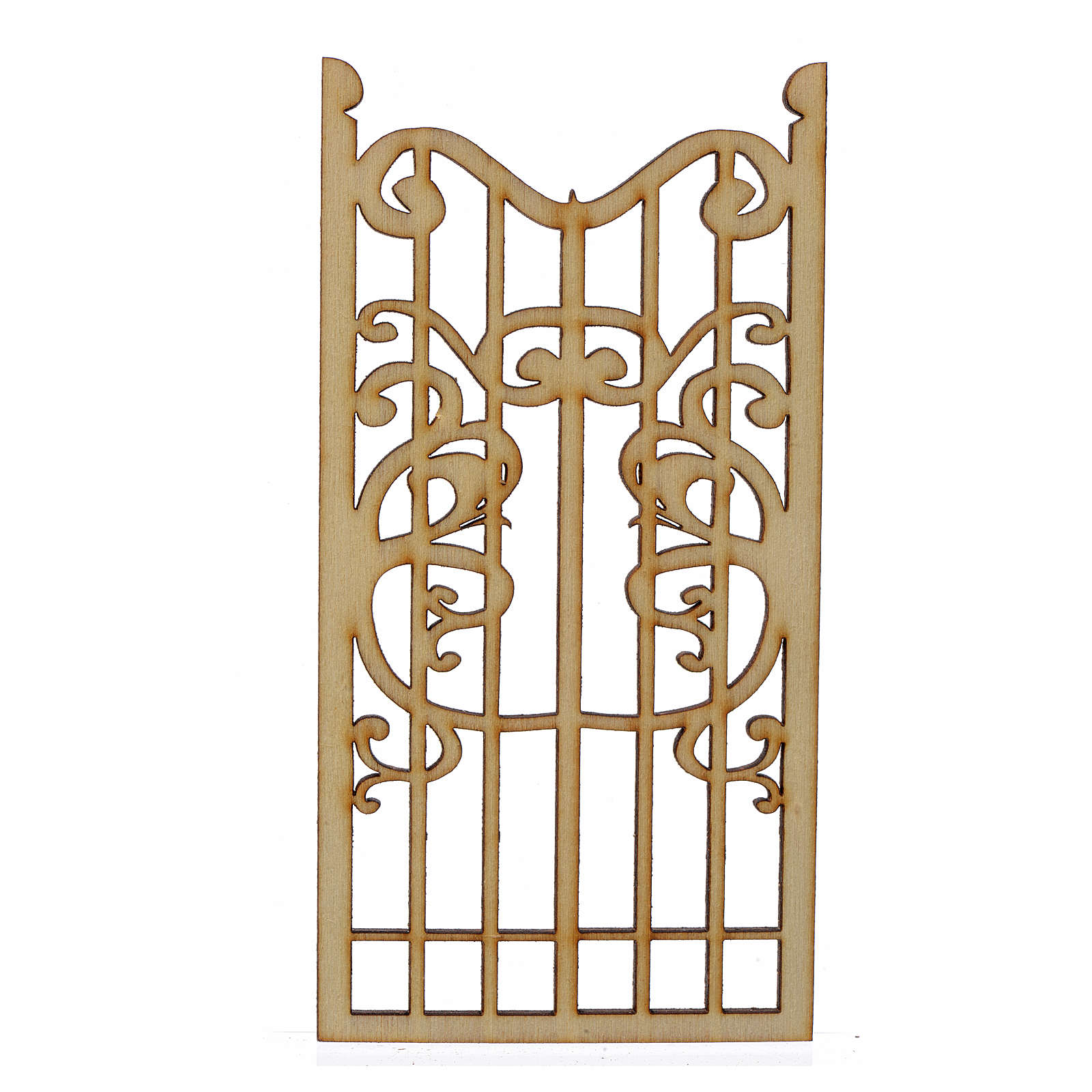 Nativity accessory, wooden gate 12x6cm 4