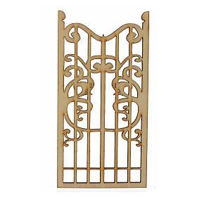 Nativity accessory, wooden gate 12x6cm s1